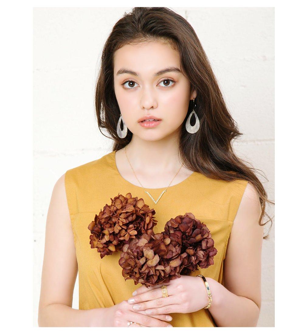 日本CREAM DOT  /  復古染色琥珀耳環  /  qc0210  /  日本必買 日本樂天直送(700) 7