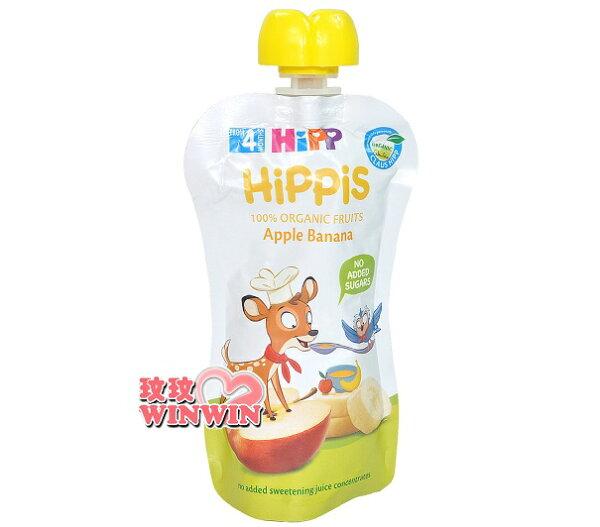 HiPP喜寶水果趣蘋果香蕉水果泥100g,無麩質,不額外添加糖,不含防腐劑(8款口味可選)