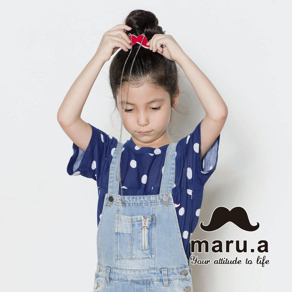 【mini maru.a】童裝親子裝滿版圓點小口袋T-shirt(2色)7351218 5