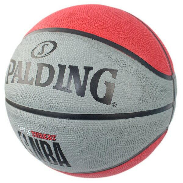 SPALDING 斯伯丁 7號 雙色籃球(紅/灰)SPA83-8267/一個入(特590) RUBBER 大NBA斯伯丁籃球 NBA籃球-群