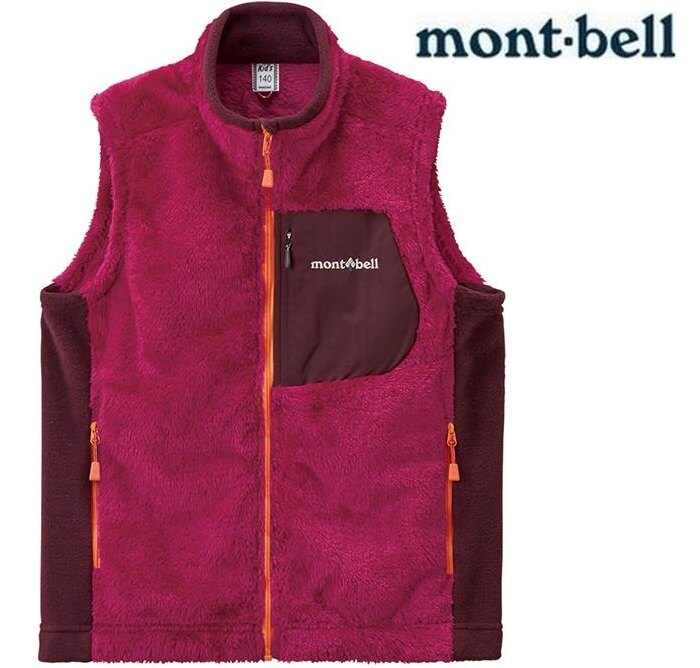 Mont-Bell 小朋友保暖衣/刷毛背心/兒童保暖背心 大童款 1106494 寶石紅RUB montbell