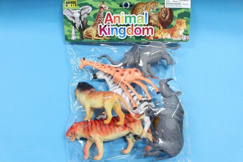 動物模型 仿真動物 仿真叢林野生動物模型 大生/軟質空心(袋裝大6隻入混款)/一袋入{促299}