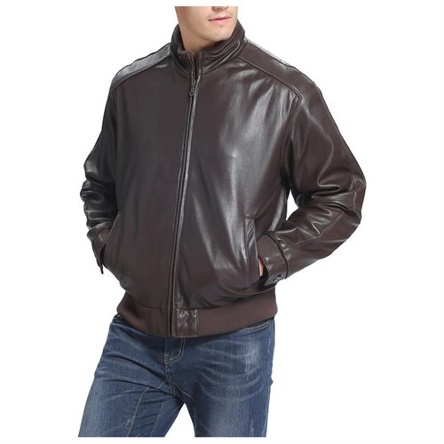 Men's New Zealand lambskin Leather Bomber Jacket 99ffb60e32b287d815c06a678a540768