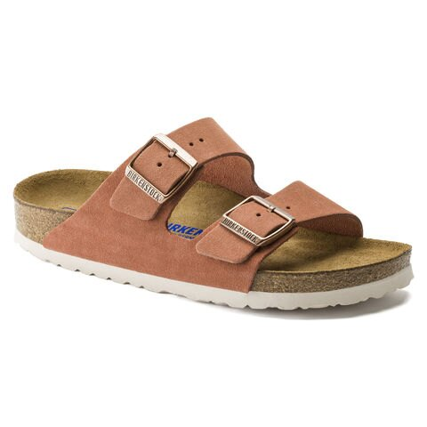 宜蘭勃肯 BIRKENSTOCK ARIZONA亞利桑那 經典二條拖鞋 磚紅色軟墊款
