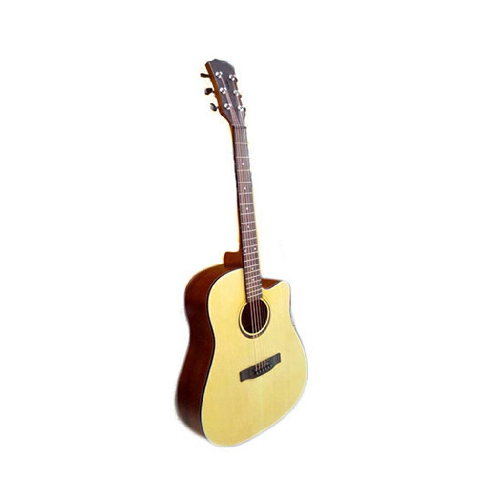 41吋 A級雲杉木 單板 啞光木紋質感  象牙白條包邊  贈厚棉雙肩琴袋 全配件     木吉他 吉他 民謠