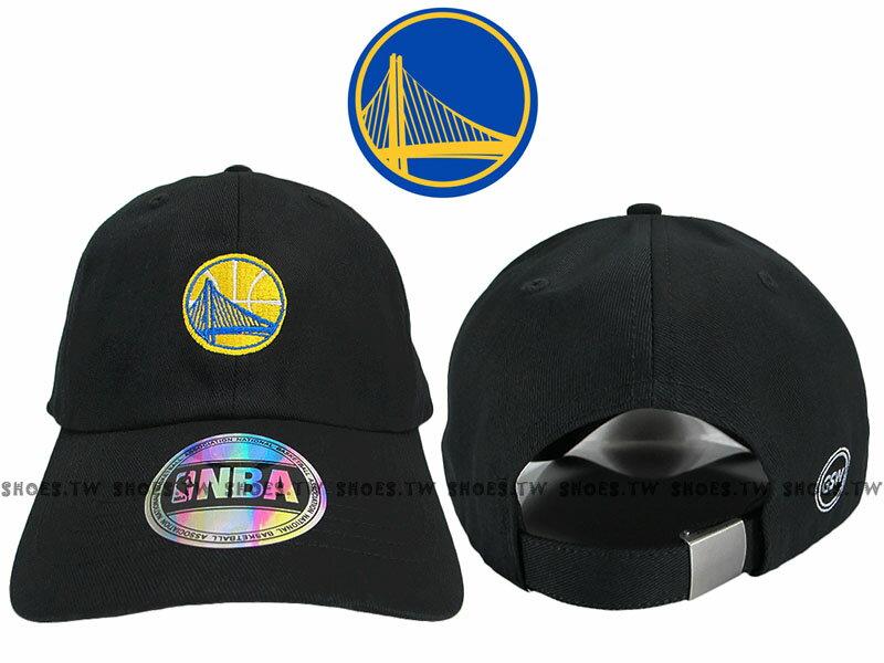 Shoestw【8662003-023】NBA 調整帽 老帽 勇士隊 黑色 男女都可戴