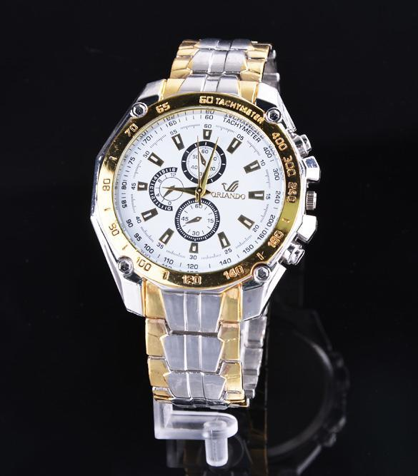 Stainless Steel  Quartz Clock Men's Wrist Watch 2