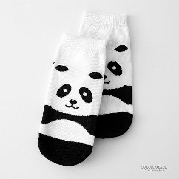 童襪可愛動物貓熊童襪[NRSC2]柒彩年代