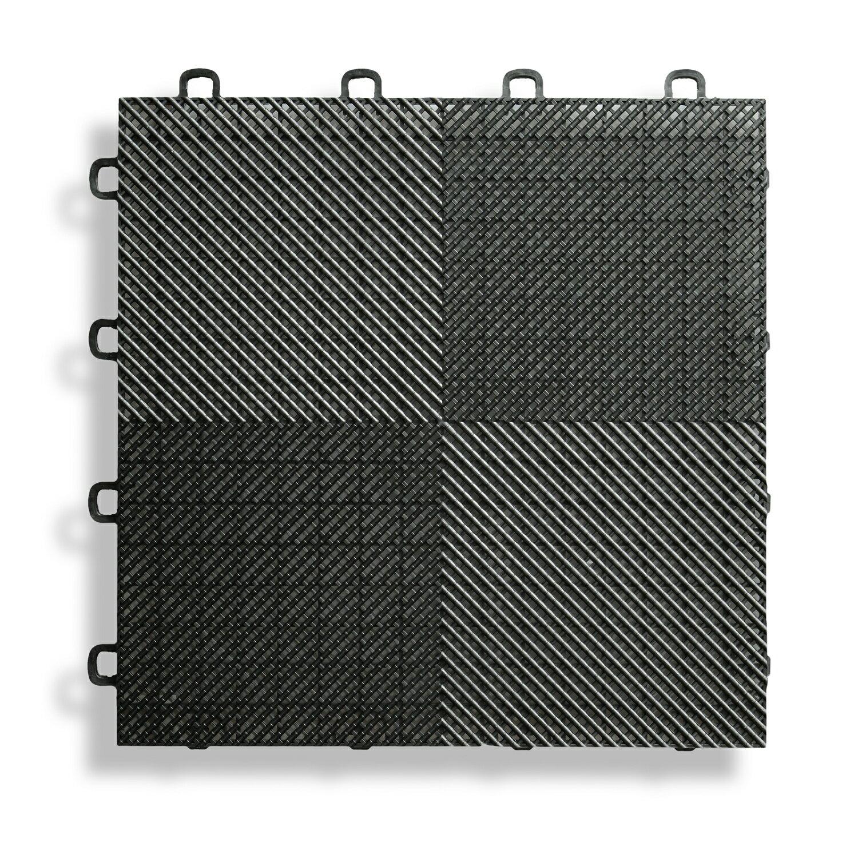 Blocktile: garage flooring flexible pvc multi purpose 18 x 18 x 1