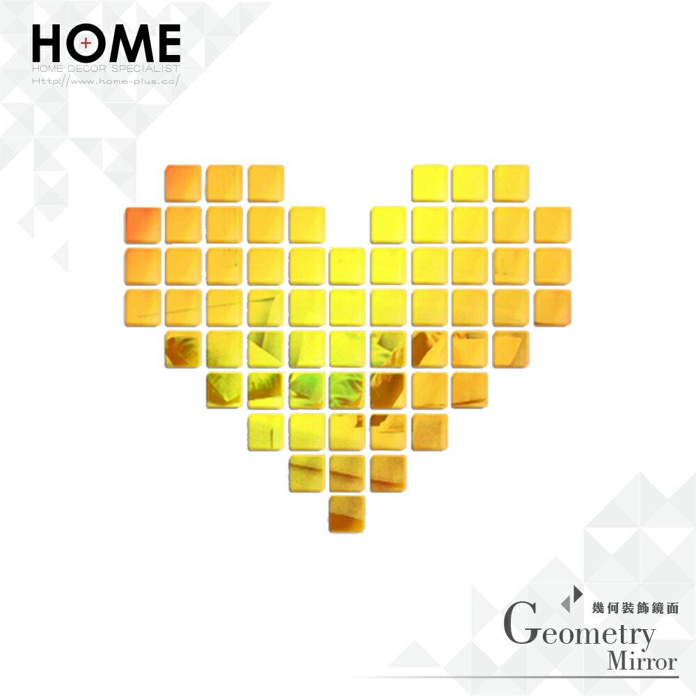 HomePlus 鏡子裝飾 金色方形 5*5cm/片 室內設計 布置 創意 小物 雜貨 家居 裝潢 飾品 裝飾 mirror