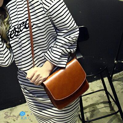 【P13】shiny藍格子-獨特品味.時尚簡約潮流單肩包斜挎包小挎包