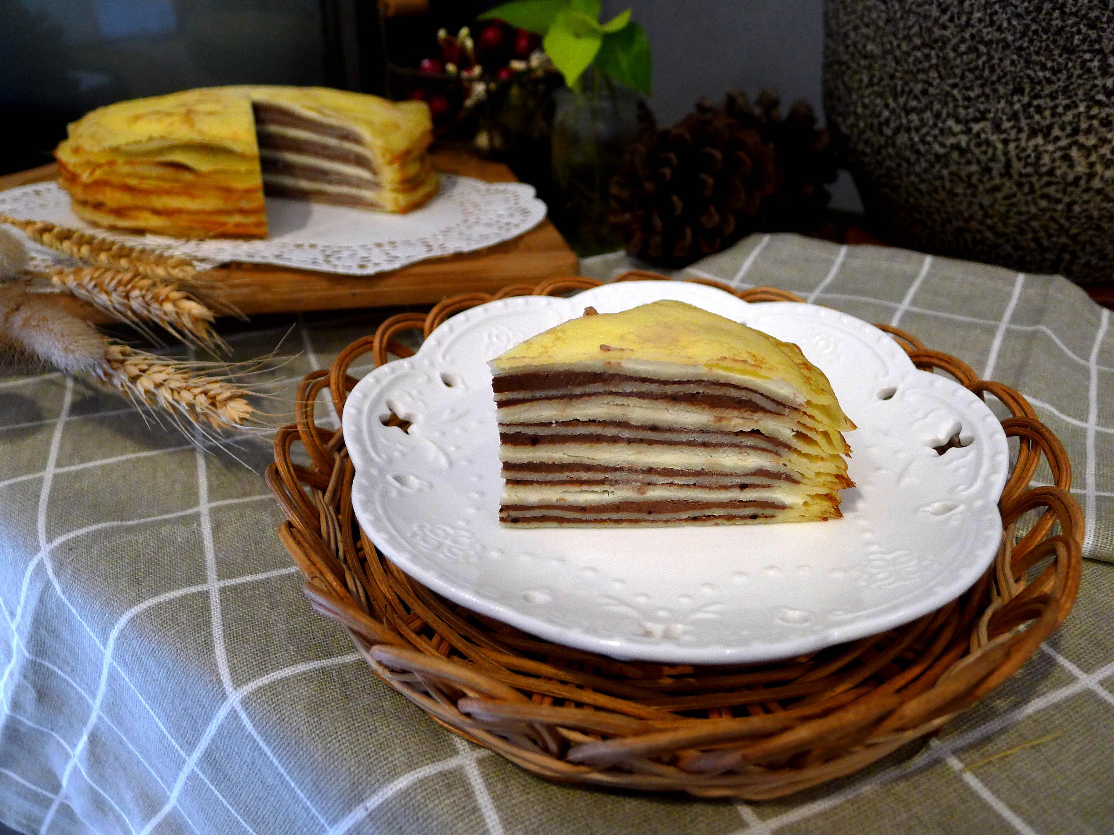 【千層蛋糕】六吋│蛋奶素│原味│巧克力│宇治金時 2