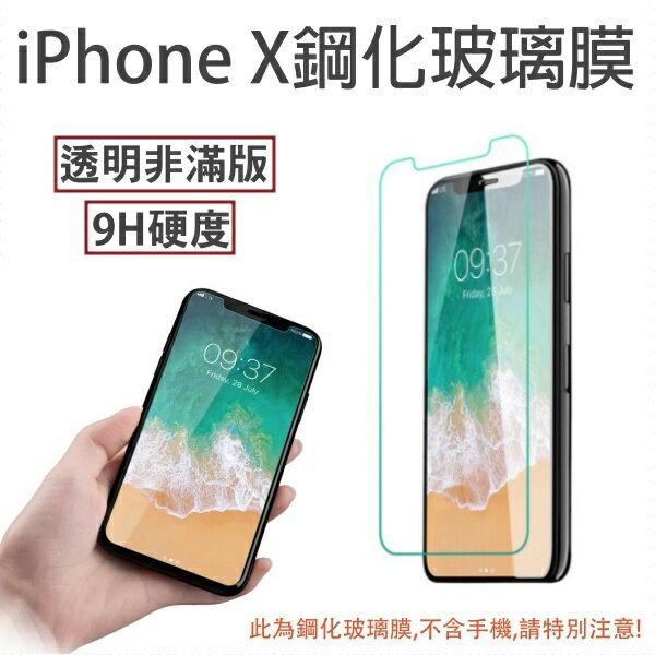 【2入裝】Apple iPhone X iPhoneX 奈米 9H 非滿版 鋼化玻璃膜、玻璃保護貼【5.8吋】盒裝公司貨