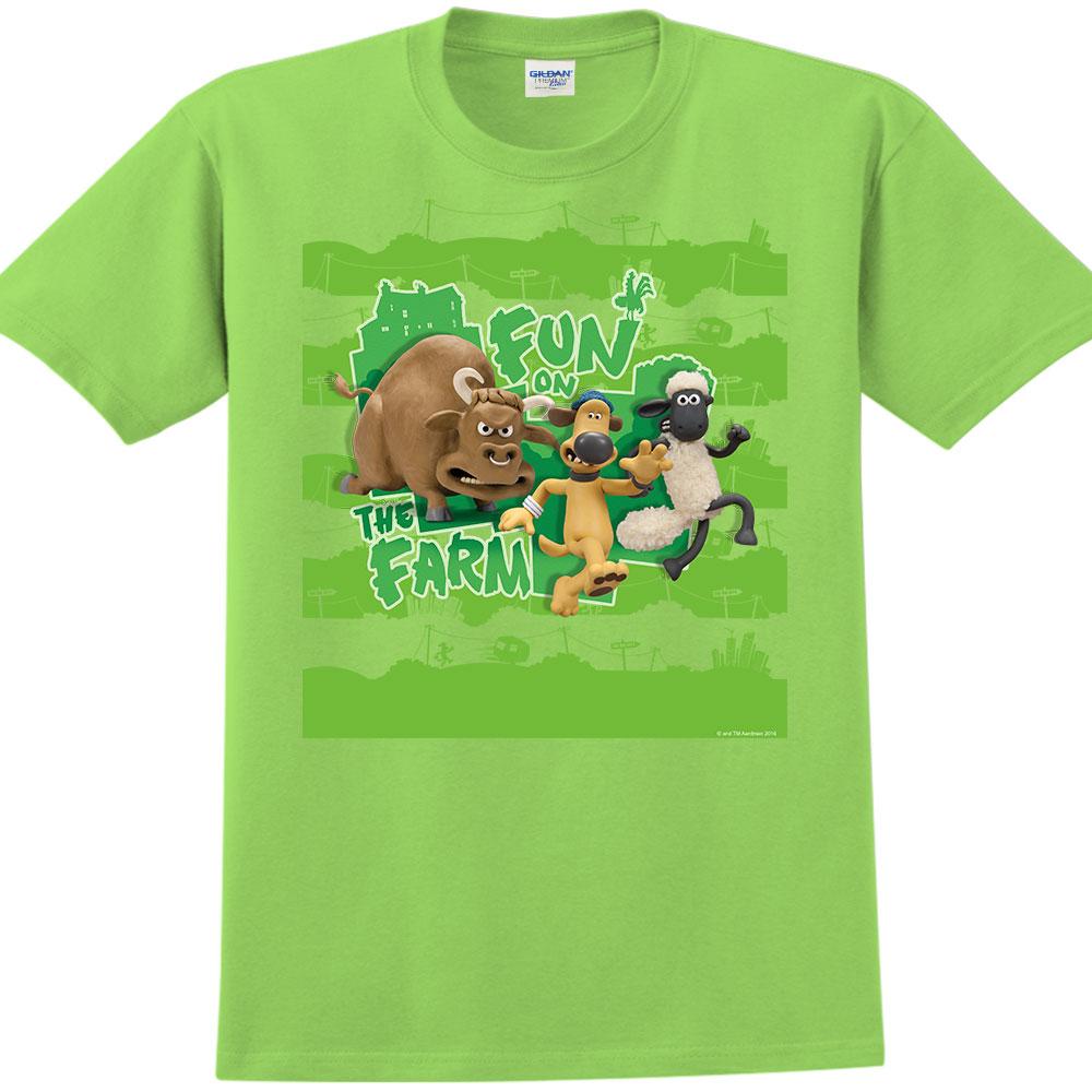 笑笑羊正版授權- T-shirt 短袖-中性:【開心農場】 (果綠)