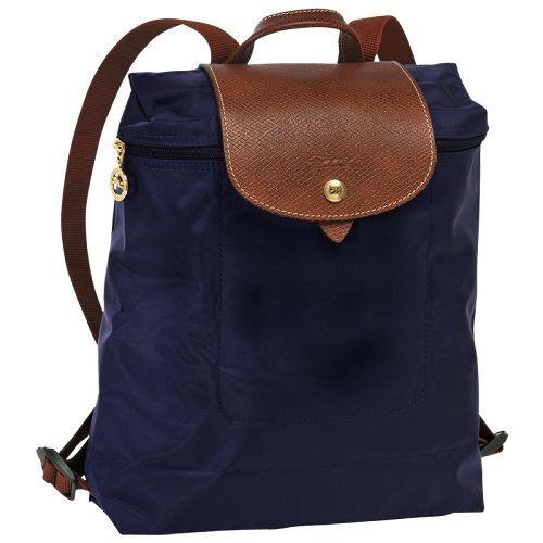 Longchamp法國經典摺疊後背包(海軍藍)