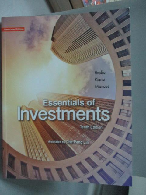 ~書寶 書T1/大學商學_XCN~Essentials of Investments An