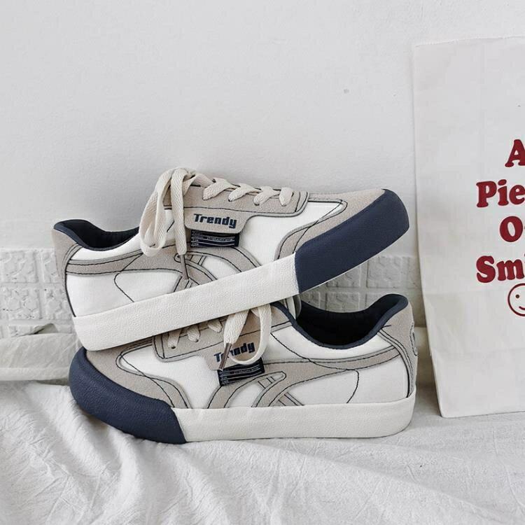 小白鞋2020年新款帆布鞋女ulzzang流行鞋子百搭板鞋ins潮休閑鞋秋