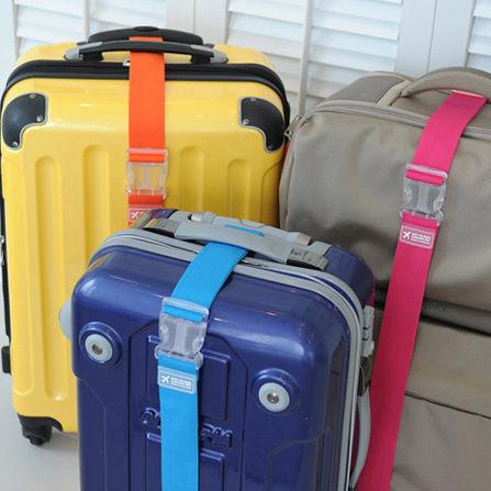 ♚MY COLOR♚彩色便攜行李束帶 捆帶 旅行必備 綁箱 保險帶 便攜 省力 單扣 防摔爆 加固 【K42】