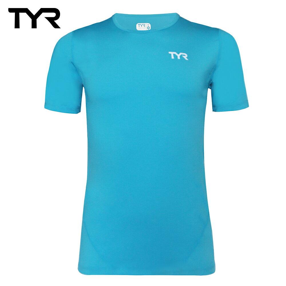 美國TYR 男款透氣排汗藍色短T Mens Running Tee 台灣總代理 - 限時優惠好康折扣