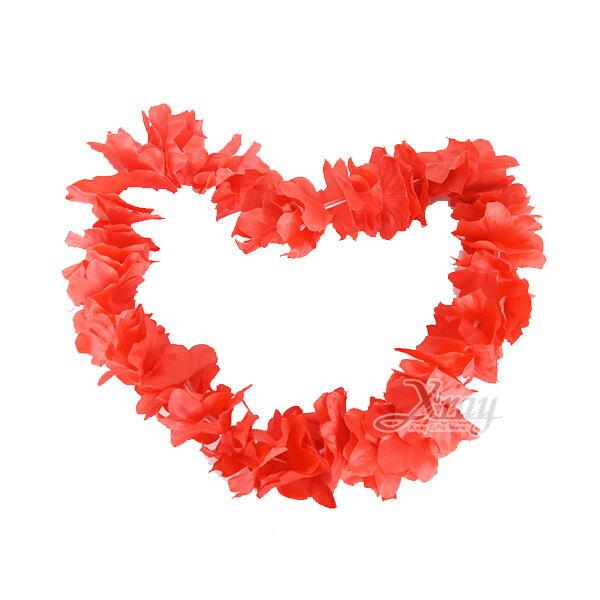 X射線【W180001】豪華花圈-夏威夷扶桑花花圈(紅),化妝舞會角色扮演尾牙表演萬聖節聖誕節兒童變裝cosplay