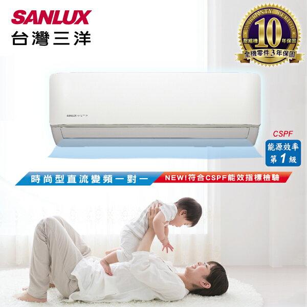 SANLUX台灣三洋   一對一變頻冷暖分離式冷氣 時尚型 (SAE-V50HF/SAC-V50HF) 含基本安裝