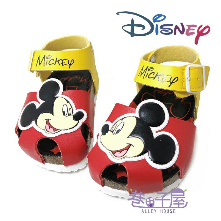 迪士尼DISNEY 童款米奇包趾伯肯涼鞋 [117252] 紅 MIT台灣製造【巷子屋】