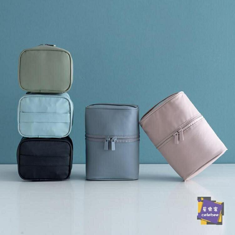 化妝包 北歐化妝包網紅少女軟妹簡約便攜大容量多功能大號旅行收納包 6色