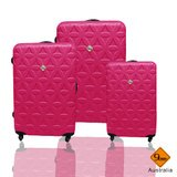 Gate9花花系列ABS霧面輕硬殼三件組旅行箱 / 行李箱