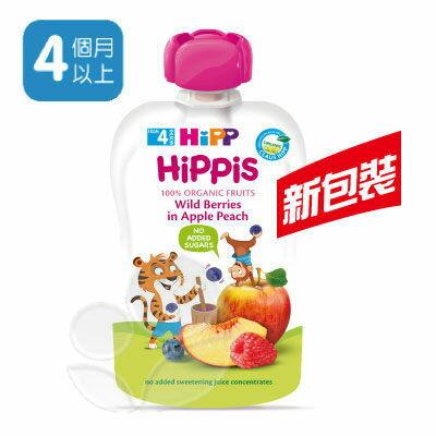 HiPP喜寶有機水果趣(水蜜桃野莓)100g【悅兒園婦幼生活館】