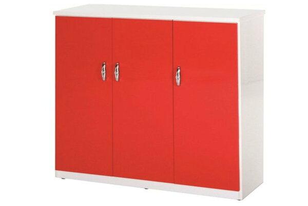 石川家居:【石川家居】857-06(紅白色)鞋櫃(CT-315)#訂製預購款式#環保塑鋼P無毒防霉易清潔