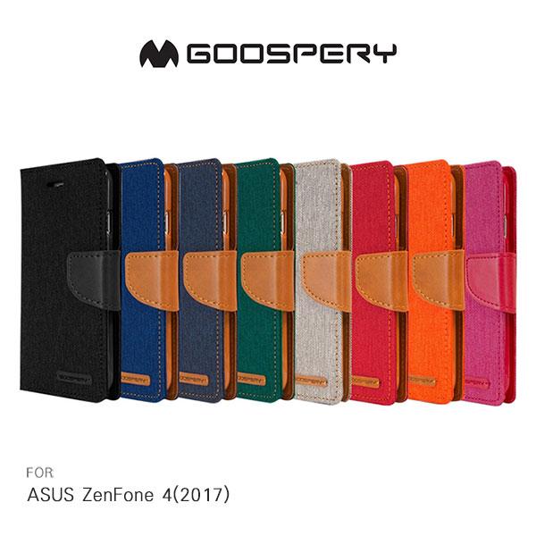 強尼拍賣~GOOSPERYASUSZenFone4(2017)ZE554KLCANVAS網布皮套磁扣插卡側翻皮套保護套手機套