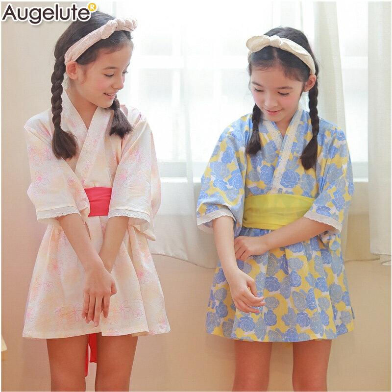 Augelute 印花圖案浴衣洋裝 60364 0