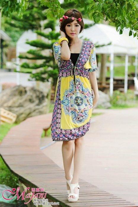 [瑪嘉妮Majani] 日系中大尺碼泳衣泳裝配件 -大尺碼  超顯瘦 比基尼外罩衫 特349 可超取付 bs-051