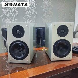 【超值展示品半價出清】SONATA LS-6 Hi-Fi 書架型喇叭 一對 香檳金色  公司貨