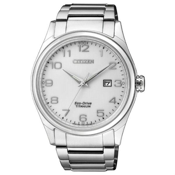 CITIZEN星辰錶BM7360-82A現代簡約光動能鈦金屬腕錶白面41mm