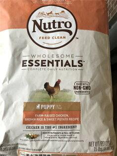 全護營養幼犬(農場鮮雞+糙米+地瓜)15磅#美士#短效2018518