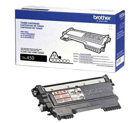 深見廣行科技:免運(二支入特惠組)BrotherTN-450原廠高容量碳粉---適用DCP-7060,HL-2200,2240,MFC-7360,7460,7860