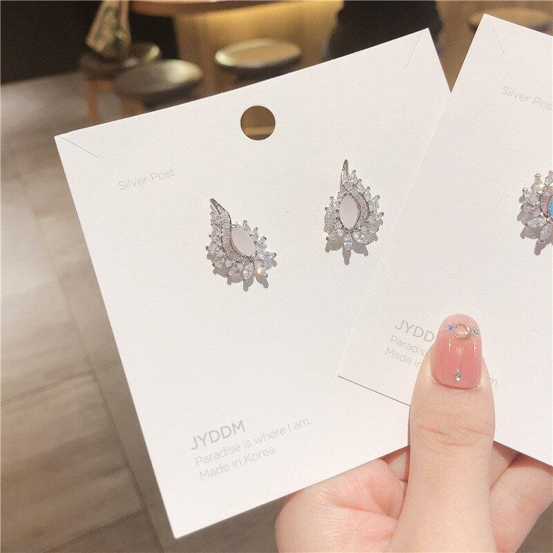 韓版925銀針復古耳飾異域風情耳環時尚百搭鑲鋯石耳釘跨境