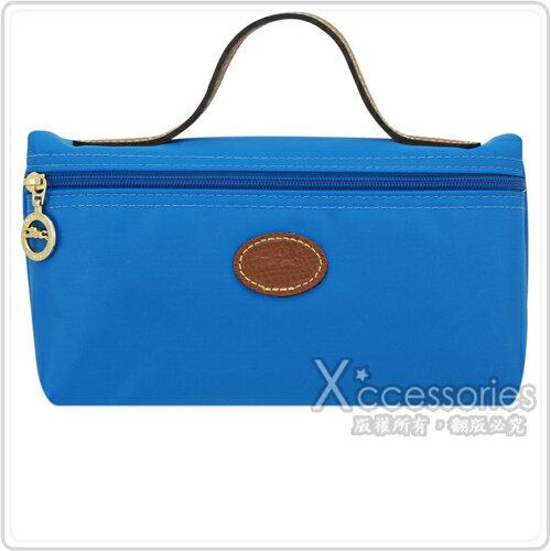 LONGCHAMP Le Pliage 摺疊包系列化妝包(大/水藍)