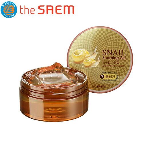 韓國 the SAEM Snail 蝸牛舒緩凝膠-300ml Snail Soothing Gel【辰湘國際】