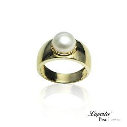 大東山珠寶 金色年華 純銀天然珍珠戒指