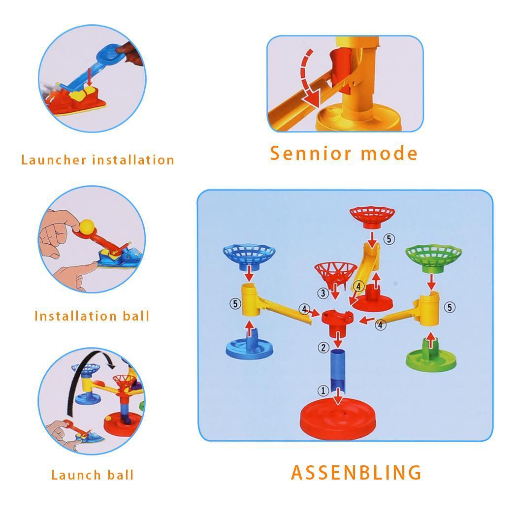 Kids Unisex DIY Educational Developmental Ball Plastic Toys Game 4