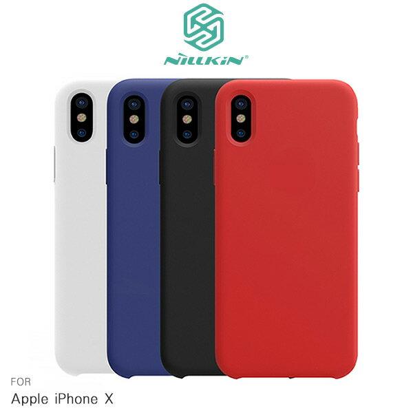 強尼拍賣~NILLKINAppleiPhoneX感系列液態矽膠殼手機殼矽膠殼保護殼