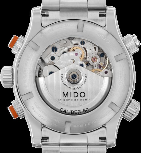 MIDO 美度 M0059141106000 Multifort 先鋒系列60小時動力潛水計時機械手錶 黑 銀 44mm 1