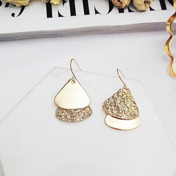 耳環幾何金屬三角形吊墜個性氣質耳?耳環【DD1805063】BOBI0524