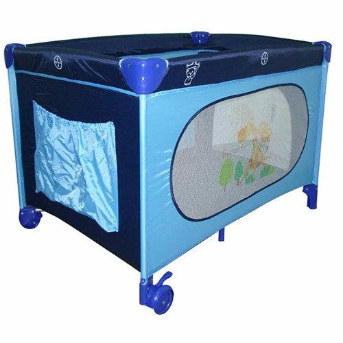 【奇買親子購物網】SweetBabyTravel遊戲床(彩色藍色)