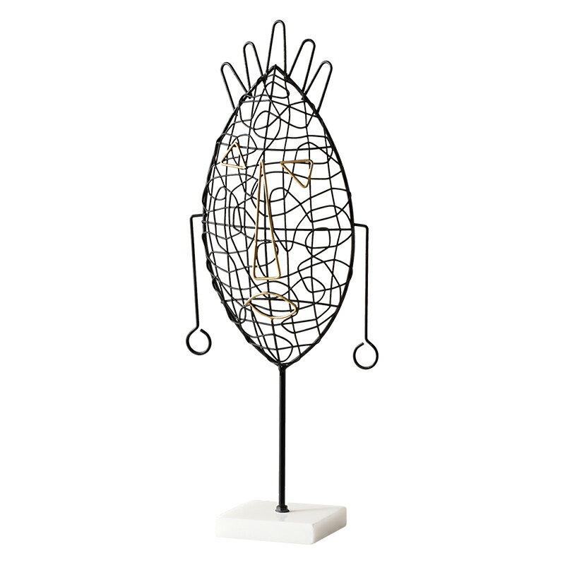 ins風創意首飾架耳環耳釘項鏈梳妝臺收納鐵藝展示架裝飾臥室擺件SGBS3 愛尚優品