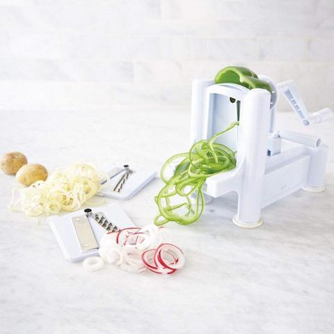 Felji Tri-Blade Plastic Spiral Vegetable Slicer Pasta Maker Spiralizer Cutter 21c21763b6092587ec7acb90dbcd2bd1