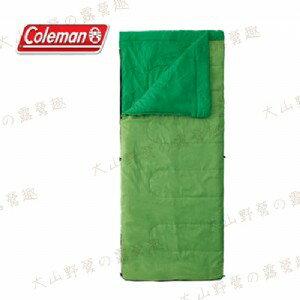 【露營趣】中和安坑 Coleman CM-27260 表演者II萊姆綠睡袋/C15 信封型睡袋 化纖睡袋 纖維睡袋 可全開併接