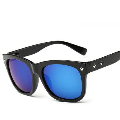 ~太陽眼鏡偏光墨鏡~復古框星星裝飾 男女眼鏡 9色73en9~ ~~米蘭 ~